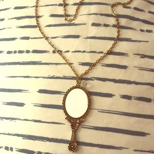 Mirror charm Necklace